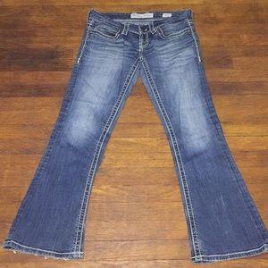 BKE Sabrina 28 frayed bottom jeans